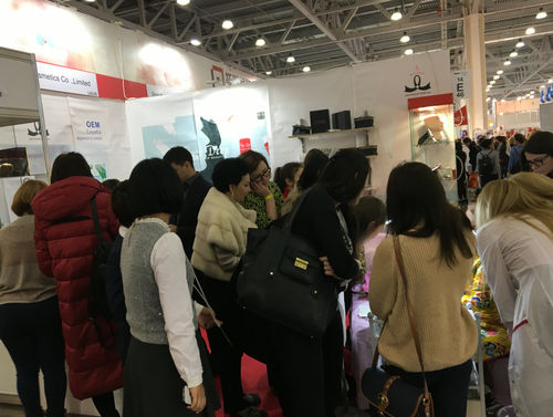 2017.10.25-2017.10.28  Guangzhou Wenshen Cosmetics Co.,Ltd attend the InterCharm Moscow