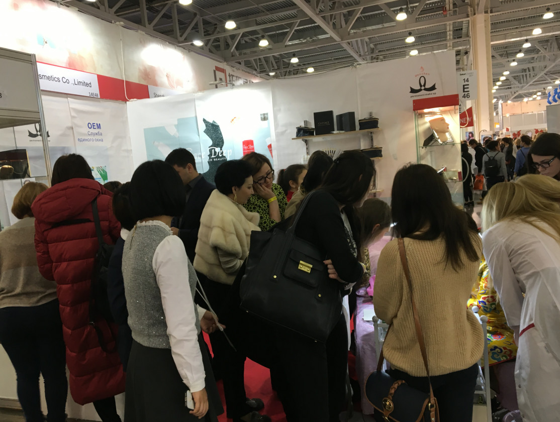china latest news about 2017.10.25-2017.10.28  Guangzhou Wenshen Cosmetics Co.,Ltd attend the InterCharm Moscow