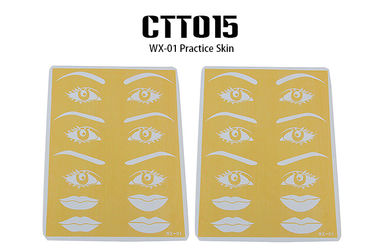 Yellow Easy To Get Ink Permanent Makeup Practice Skin OEM / ODM Available