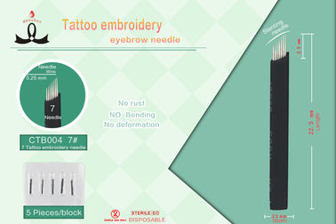 Stainless Steel Permanent Makeup Microblading Tattoo Needls Sterilized With Gamma Rays