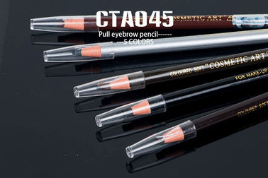 5 Colors Paper Roll Cosmetic Soft Pull Eyebrow Pencil For Beauty