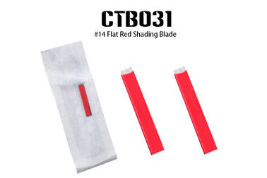 Red Color #14 Flat Red Shading Blade for Microblading Ombre Eyebrow Tattoo