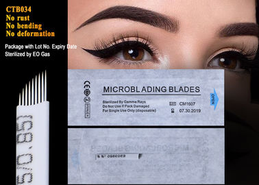 Permanent Makeup Eyebrow Blade Microblading Needles With Lot. No. And Expiry Date