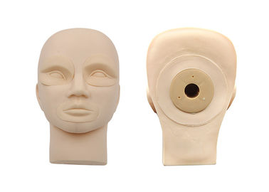 Rubber Practice Mannequin Head With Demountable Eyes / Mouth For Beginner
