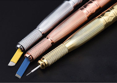Embroidery Diamond Manual Tattoo Pen With Box / 3D Eyebrow Lip EO Gas Strict Sterilization pen