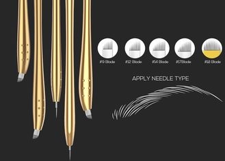 Golden Luxury Disposable Manual Pen For Microstroking Eyebrows Blister Packing