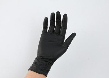Black Disposable Nitrile Gloves For Permanent Makeup Operation
