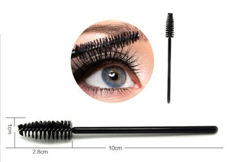 Artificial Fibers Cosmetic Beauty Tools / Black Eye Makeup Brushes For Eyelashes / Eyebrows
