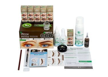 Private Label Tattoo Accessories  / Tint Complete Henna Brow Kit