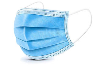 Blue Medical Disposable Face Mask Non Woven 3 Ply With Earloop