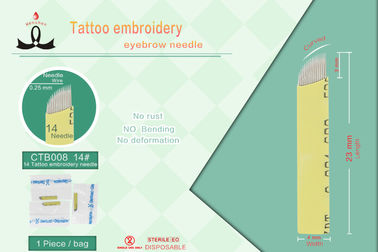 Stainless Steel Permanent Make Up Tattoo Needles Approved ISO 9002