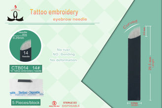 Permanent Cosmetic Eyebrow Microblading Needles , Curved Mag Tattoo Needles