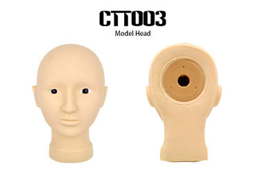 China Face Painting Permanent Makeup Practice Head , Soft Rubber 3D Head Model supplier