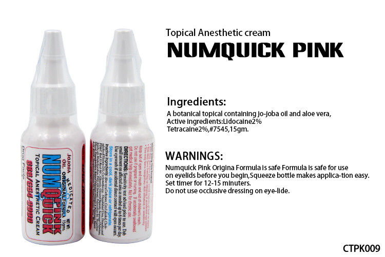 Numquick pink tattoo numb cream water based tattoo for Numbing cream for tattoos over the counter