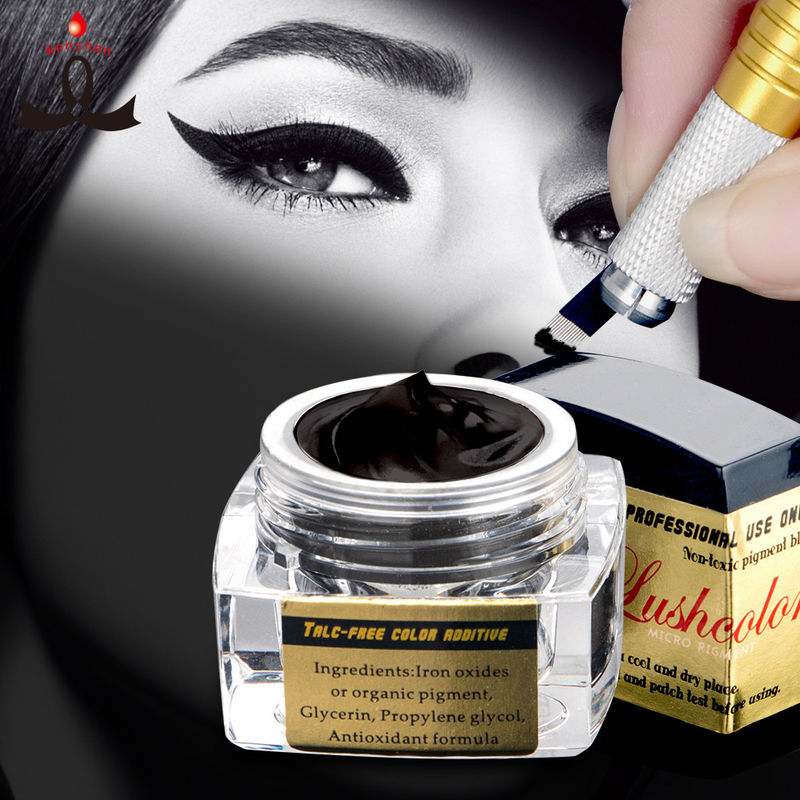 5 Ml Black Semi Permanent Makeup Pigments Microblading Ink For