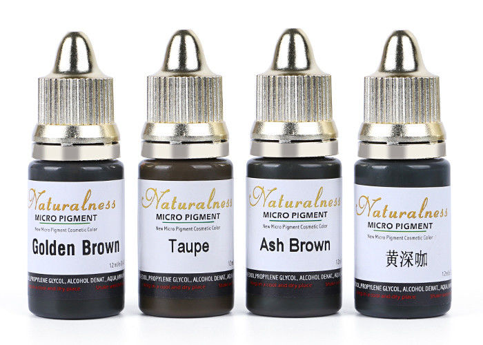 12 Ml Water Based Semi Permanent Makeup Pigments For Eyebrow