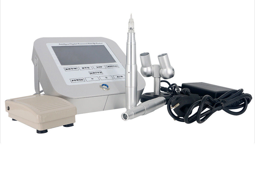 Silver aluminum multifunction semi permanent makeup for How much does a tattoo gun cost