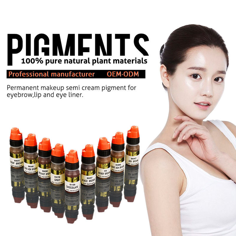 Multi Color Organic 8ml Semi Permanent Makeup Pigments Eyebrow