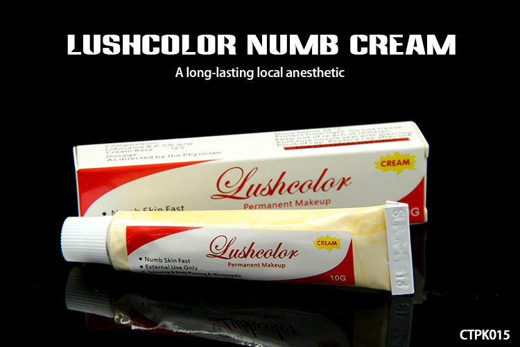 Lushcolor oem tattoo anesthetic cream 10g numbing cream for Lidocaine for tattoos