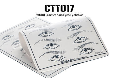 China Double Side Use Permanent Makeup Practice Skin For Eyebrow & Eyeliner Tattoo distributor