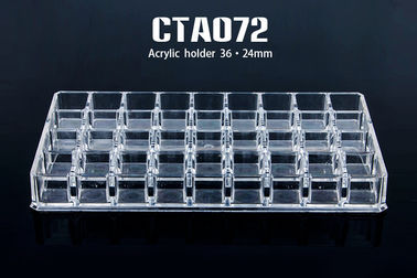 China Acrylic 36 Holes Transparent  Permanent Make Up Tattoo Ink Cup Holder factory
