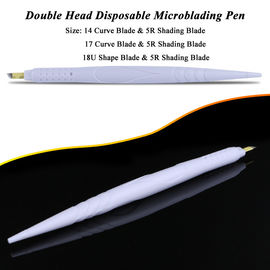 Private Label White Dual Head Disposable Microblading Pen For Hairstroke / Shadow
