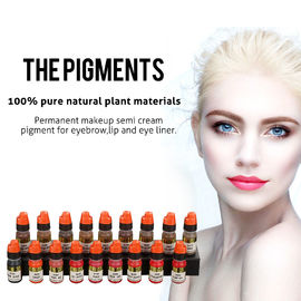 China OEM Pure Natural Plant Semi Permanent Makeup Pigments For Eyebrow Tattoo distributor