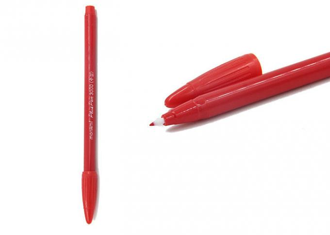 China Safety Skin Tattoo Accessories , 16.5 CM Red Eyebrow Skin Marker Pen With FC supplier