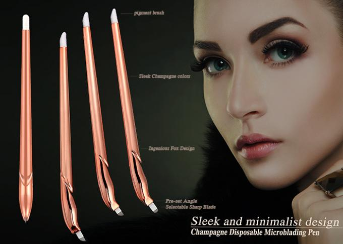 Disposable Manual Tattoo Pen / Eyebrow Microblading Hand Tool ISO9001