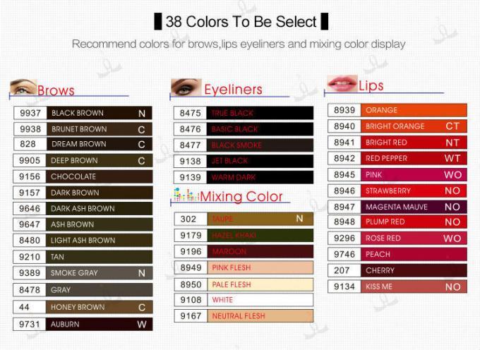 Cosmetics Non Discoloring Micro Pigment For Permanent